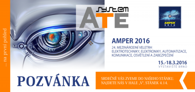 Invitation to AMPER 2016 in Brno