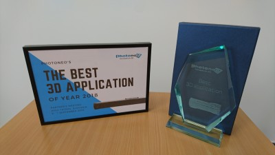 Photoneo awarded ATEsystem for best 3D application in 2018